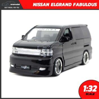 โมเดลรถตู้ NISSAN ELGRAND FABULOUS สีดำ (Scale 1:32)