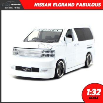 โมเดลรถตู้ NISSAN ELGRAND FABULOUS สีขาว (Scale 1:32)