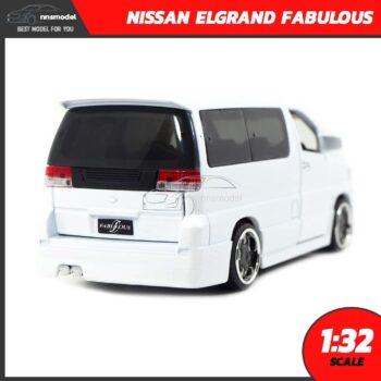 โมเดลรถตู้ NISSAN ELGRAND FABULOUS สีขาว (Scale 1:32) รถโมเดลประกอบสำเร็จ