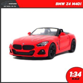 โมเดลรถสปอร์ต BMW Z4 M40i สีแดง (Scale 1:34)