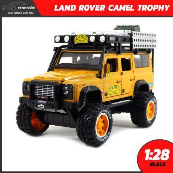โมเดลรถ LAND ROVER CAMEL TROPHY สีน้ำตาลเหลือง (Scale 1:28)