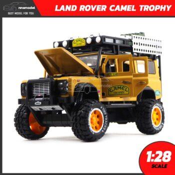 โมเดลรถ LAND ROVER CAMEL TROPHY สีน้ำตาลเหลือง (Scale 1:28) โมเดลรถประกอบสำเร็จ พร้อมตั้งโชว์