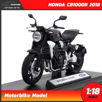 โมเดลบิ๊กไบค์ HONDA CB1000R 2018 สีดำ (Scale 1:18)