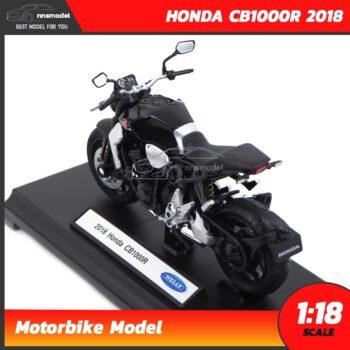 โมเดลบิ๊กไบค์ HONDA CB1000R 2018 สีดำ (Scale 1:18) Motorbike Model โมเดลรถสะสม Welly