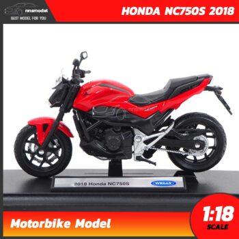 โมเดลบิ๊กไบค์ HONDA NC750S 2018 สีแดงดำ (1:18) โมเดลมอเตอร์ไซด์ Motorbike Model