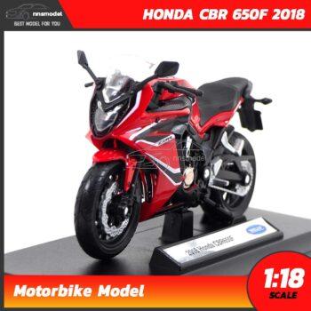 โมเดลมอเตอร์ไซด์ HONDA CBR 650F 2018 สีแดงดำ (1:18)