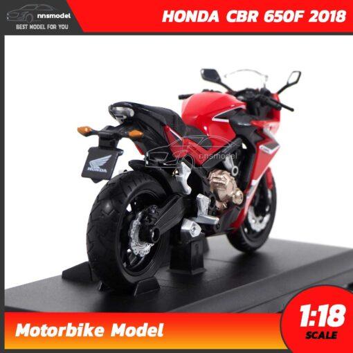 โมเดลมอเตอร์ไซด์ HONDA CBR 650F 2018 สีแดงดำ (1:18) โมเดลบิ๊กไบค์ รุ่นขายดี