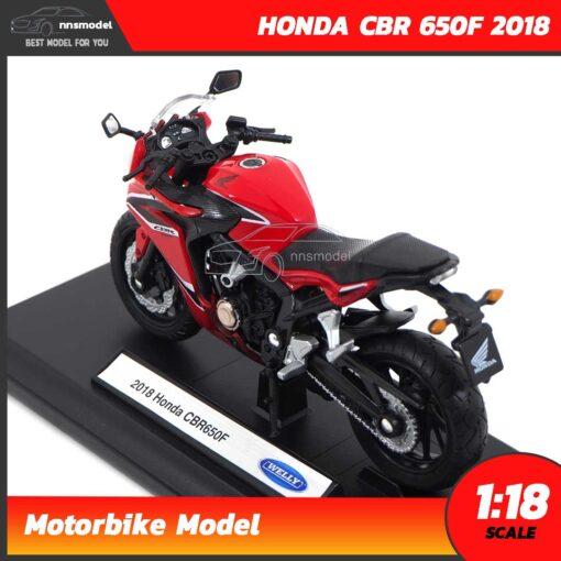 โมเดลมอเตอร์ไซด์ HONDA CBR 650F 2018 สีแดงดำ (1:18) โมเดลบิ๊กไบค์ ประกอบสำเร็จ พร้อมตั้งโชว์