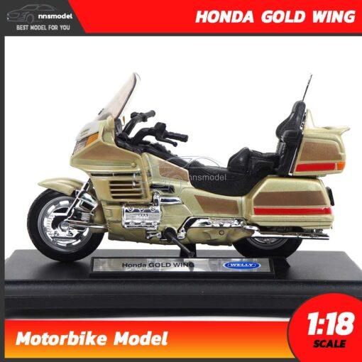 โมเดลมอเตอร์ไซด์ HONDA GOLD WING สีทอง (Scale 1:18) Motorbike Model Welly