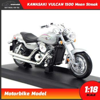โมเดลมอเตอร์ไซด์ KAWASAKI VULCAN 1500 Mean Streak 2002 (1:18) โมเดลช้อปเปอร์จำลอง พร้อมตั้งโชว์