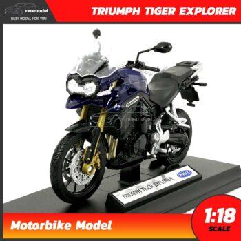 โมเดลมอเตอร์ไซด์ ไทรอั้ม TRIUMPH TIGER EXPLORER (Scale 1:18)