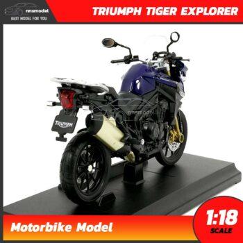 โมเดลมอเตอร์ไซด์ ไทรอั้ม TRIUMPH TIGER EXPLORER (Scale 1:18) โมเดลประกอบสำเร็จ