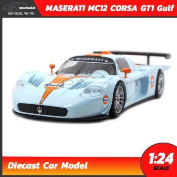 โมเดลรถสปอร์ต MASERATI MC12 CORSA GT1 Gulf (Scale 1:24)