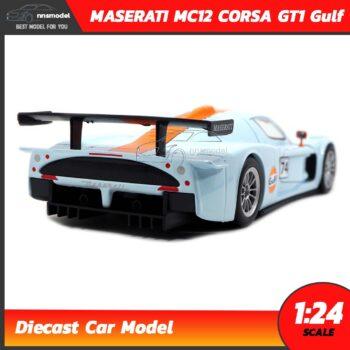 โมเดลรถสปอร์ต MASERATI MC12 CORSA GT1 Gulf โมเดลรถแข่ง 1:24 จำลองเหมือนจริง