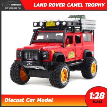 โมเดลรถ LAND ROVER CAMEL TROPHY สีแดง (Scale 1:28) โมเดล Offroad จำลองเหมือนจริง