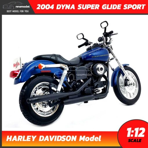 โมเดลฮาเล่ย์ HARLEY DAVIDSON DYNA SUPER GLIDE SPORT 2004 (1:12) โมเดลรถสะสม