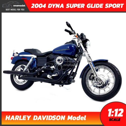 โมเดลฮาเล่ย์ HARLEY DAVIDSON DYNA SUPER GLIDE SPORT 2004 (1:12) โมเดลรถสะสม Maisto
