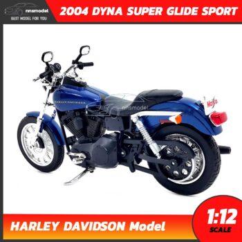 โมเดลฮาเล่ย์ HARLEY DAVIDSON DYNA SUPER GLIDE SPORT 2004 (1:12) โมเดลรถสะสม จำลองเหมือนจริง