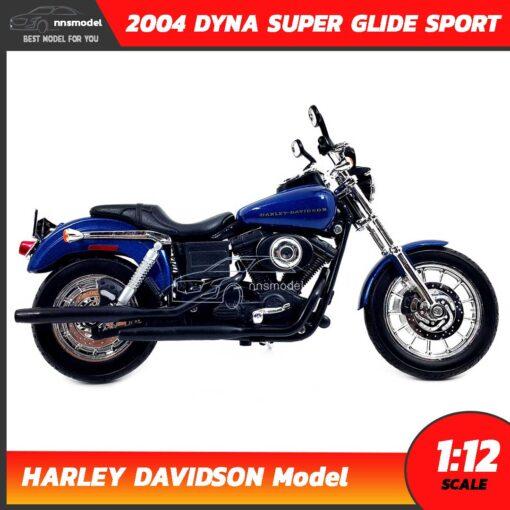 โมเดลฮาเล่ย์ HARLEY DAVIDSON DYNA SUPER GLIDE SPORT 2004 (1:12) โมเดลรถสะสม จำลองเหมือนจริง พร้อมตั้งโชว์