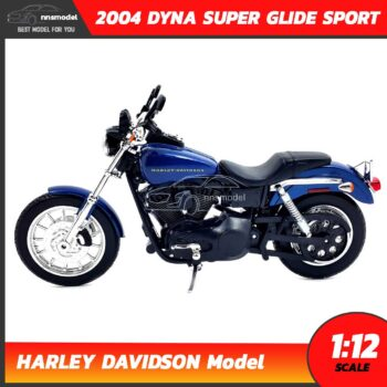 โมเดลฮาเล่ย์ HARLEY DAVIDSON DYNA SUPER GLIDE SPORT 2004 (1:12) โมเดลรถสะสม จำลองเหมือนจริง พร้อมตั้งโชว์ สวยๆ