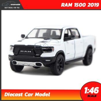 โมเดลรถกระบะ RAM 1500 2019 (Scale 1:46) โมเดลรถเหล็ก สีขาว