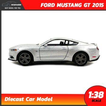 โมเดลรถมัสแตง FORD MUSTANG GT 2015 คาดลาย (Scale 1:38) สีบรอนด์เงิน model รถเหล็ก ของสะสม Kinsmart