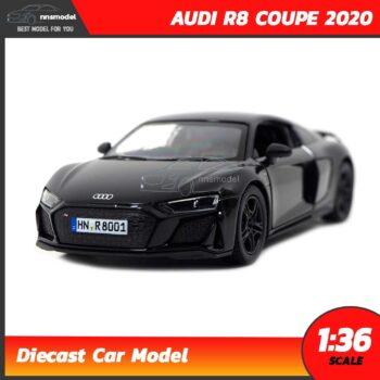 โมเดลรถสปอร์ต AUDI R8 COUPE 2020 สีดำ (Scale 1:36) model รถ จำลองสมจริง