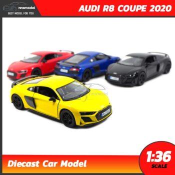 โมเดลรถสปอร์ต AUDI R8 COUPE 2020 (Scale 1:36) model รถ มี 4 สี