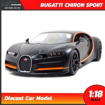 โมเดลรถสปอร์ต BUGATTI CHIRON SPORT สีดำด้าน Scale 1:18