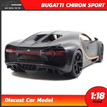 โมเดลรถสปอร์ต BUGATTI CHIRON SPORT สีดำด้าน (Scale 1:18) รถเหล็ก Bburago