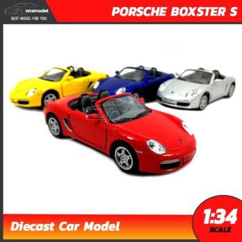 โมเดลรถสปอร์ต PORSCHE BOXSTER S (Scale 1:34) โมเดลรถเหล็ก มี 4 สี