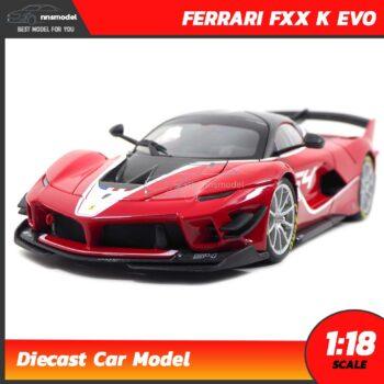 โมเดลรถ เฟอร์รารี่ FERRARI FXX K EVO สีแดง (Scale 1:18)