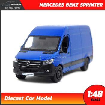 โมเดลรถตู้ MERCEDES BENZ SPRINTER สีน้ำเงิน (Scale 1:48) รถเหล็กโมเดล โมเดลรถสะสม Kinsmart