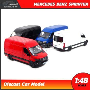 โมเดลรถตู้ MERCEDES BENZ SPRINTER (Scale 1:48) โมเดลรถเหล็ก มี 4 สี
