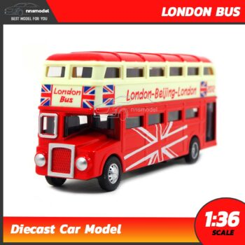 โมเดลรถบัส 2 ชั้น London Bus รถเหล็กโมเดล