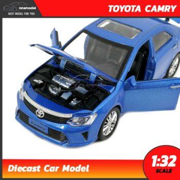 โมเดลรถเหล็ก โตโยต้า แคมรี่ TOYOTA CAMRY สีฟ้า (Scale 1:32) Diecast Model เครื่องยนต์จำลองสมจริง