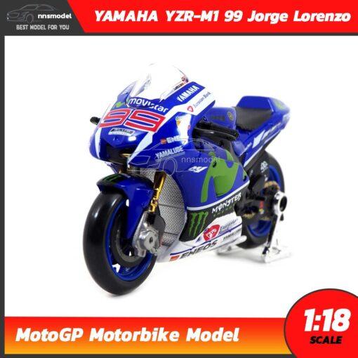 โมเดล MotoGP Yamaha YZR-M1 99 Jorge Lorenzo (1:18)
