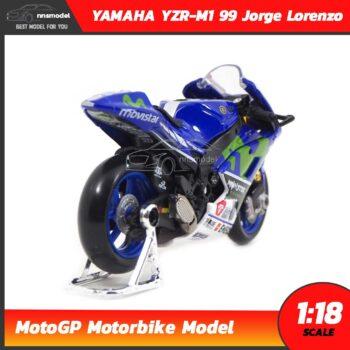 โมเดล MotoGP Yamaha YZR-M1 99 Jorge Lorenzo (1:18) โมเดลรถสะสม Maisto