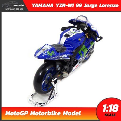 โมเดล MotoGP Yamaha YZR-M1 99 Jorge Lorenzo (1:18) โมเดลรถสะสม Diecast Model Maisto