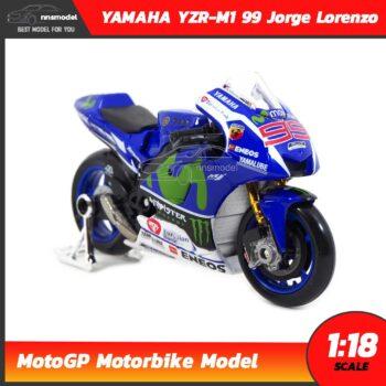 โมเดล MotoGP Yamaha YZR-M1 99 Jorge Lorenzo (1:18) โมเดลรถแข่ง โมโตจีพี