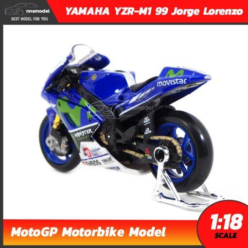 โมเดล MotoGP Yamaha YZR-M1 99 Jorge Lorenzo (1:18) โมเดลรถแข่ง โมโตจีพี พร้อมขาตั้ง