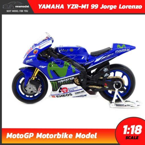 โมเดล MotoGP Yamaha YZR-M1 99 Jorge Lorenzo (1:18) โมเดลรถแข่ง โมโตจีพี ประกอบสำเร็จ จำลองสมจริง