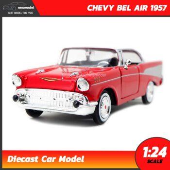 โมเดลรถคลาสสิค CHEVY BEL AIR 1957 สีแดง (Scale 1:24)