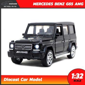 โมเดลรถเบนซ์ MERCEDES BENZ G65 AMG สีดำ (Scale 1:32) โมเดลรถเหล็ก มีเสียงมีไฟ