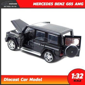 โมเดลรถเบนซ์ MERCEDES BENZ G65 AMG สีดำ (Scale 1:32) โมเดลรถเหล็ก เปิดประตูท้ายได้