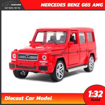 โมเดลรถเบนซ์ MERCEDES BENZ G65 AMG สีแดง (Scale 1:32)