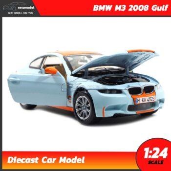 โมเดลรถ BMW M3 2008 Gulf (Scale 1:24) รถเหล็กโมเดล จำลองเหมือนจริง