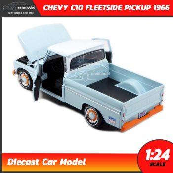 โมเดลรถคลาสสิค CHEVY C10 FLEETSIDE PICKUP 1956 GULF (1:24) โมเดลรถเหล็ก เปิดฝากระโปรงหน้ารถได้ พร้อมตั้งโชว์