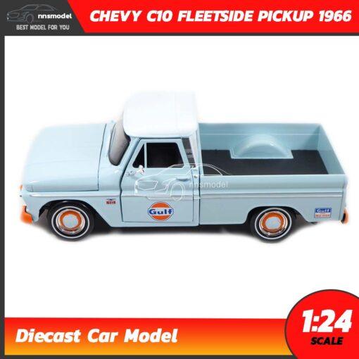 โมเดลรถคลาสสิค CHEVY C10 FLEETSIDE PICKUP 1956 GULF (1:24) โมเดลรถเหล็ก Diecast Model เครื่องยนต์จำลองสมจริง