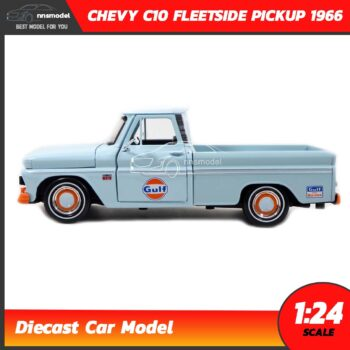 โมเดลรถคลาสสิค CHEVY C10 FLEETSIDE PICKUP 1956 GULF (1:24) โมเดลรถเหล็ก Diecast Model Motormax